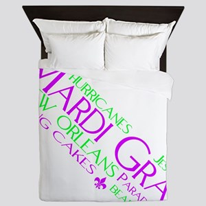 MARDI GRAS FUN Queen Duvet