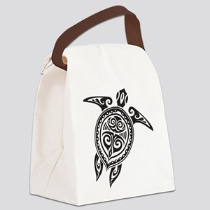 Tribal Sea Turtle Canvas Lunch Bag