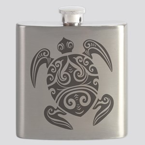 Tribal Sea Turtle Flask