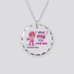 Personalized Breast Cancer Custom Necklace Circle