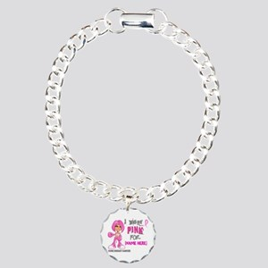 Personalized Breast Cancer Custom Charm Bracelet,