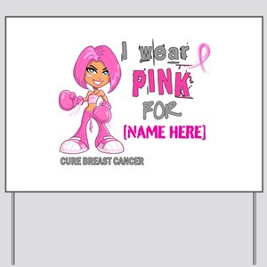 Personalized Breast Cancer Custom Yard Sign
