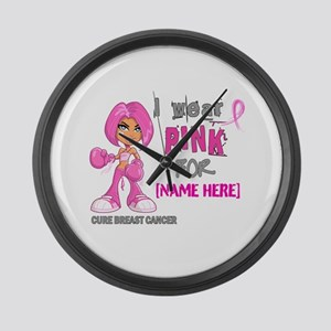 Personalized Breast Cancer Custom Large Wall Clock