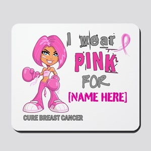 Personalized Breast Cancer Custom Mousepad