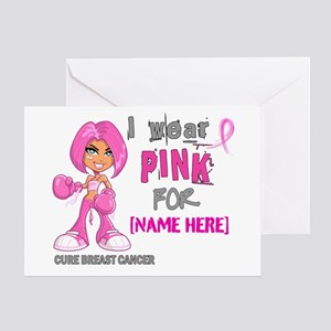 Personalized Breast Cancer Custom Greeting Card