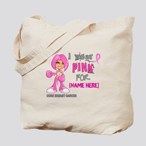Personalized Breast Cancer Custom Tote Bag