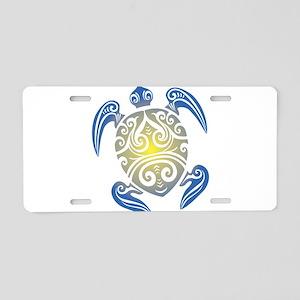 Tribal Sea Turtle Aluminum License Plate