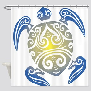 Tribal Sea Turtle Shower Curtain