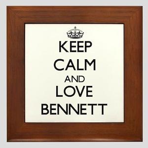 Keep Calm and Love Bennett Framed Tile