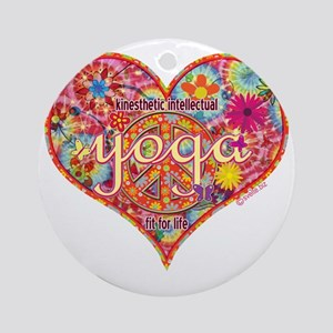 yoga fit for life kinesthetic intel Round Ornament