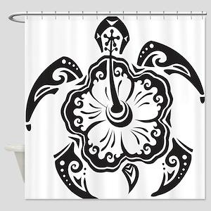 Sea Turtle Art Shower Curtain