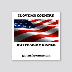 "gf american shirt Square Sticker 3"" x 3"""