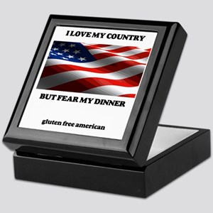 gf american shirt Keepsake Box