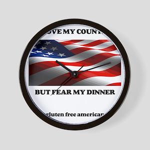 gf american shirt Wall Clock