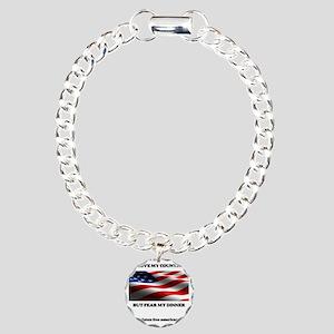 gf american shirt Charm Bracelet, One Charm