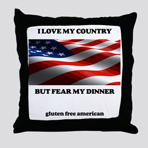 gf american shirt Throw Pillow
