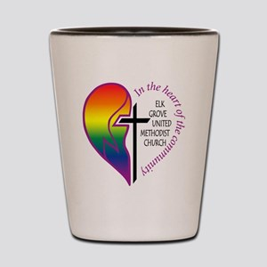 EGUMC logo rainbow2 Shot Glass