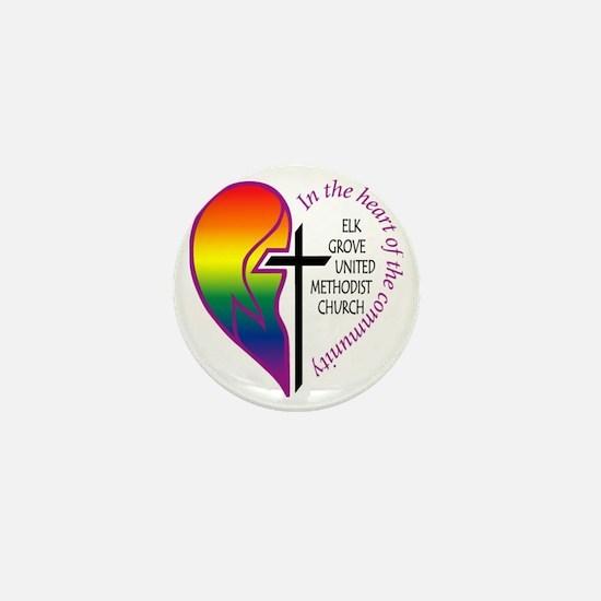 EGUMC logo rainbow2 Mini Button