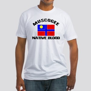 Muscogee Native Blood Fitted T-Shirt