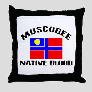 Muscogee Native Blood Throw Pillow