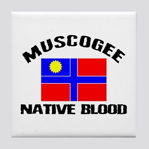 Muscogee Native Blood Tile Coaster