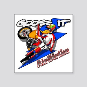 "3-gooseit_airstrike Square Sticker 3"" x 3"""