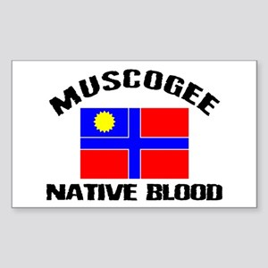 Muscogee Native Blood Rectangle Sticker