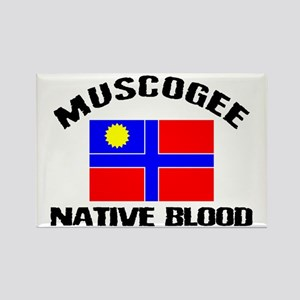Muscogee Native Blood Rectangle Magnet