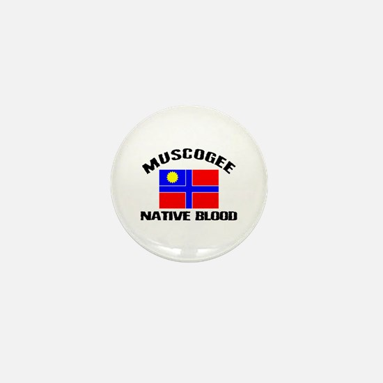 Muscogee Native Blood Mini Button