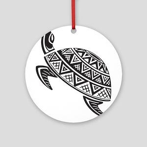 Sea Turtle Art Ornament (Round)