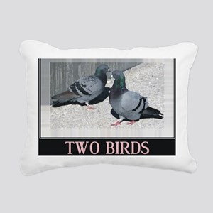 2-twobirdsposter Rectangular Canvas Pillow