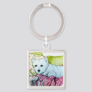 Cottage Queen mousepad Square Keychain