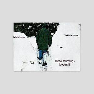 Global Warming 2009 5'x7'Area Rug