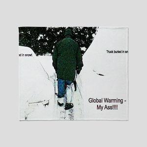 Global Warming 2009 Throw Blanket