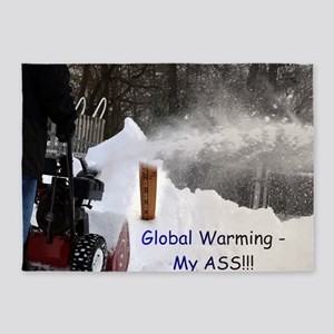 Global Warming December 2009 5'x7'Area Rug
