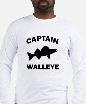 CAPTAIN WALLEYE CENTERED Long Sleeve T-Shirt