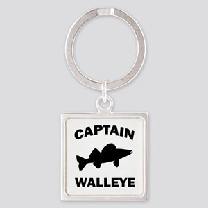 CAPTAIN WALLEYE CENTERED Square Keychain