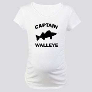 CAPTAIN WALLEYE CENTERED Maternity T-Shirt