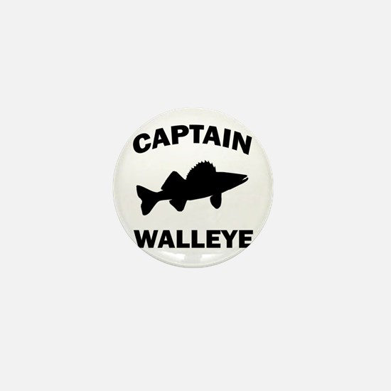 CAPTAIN WALLEYE CENTERED Mini Button