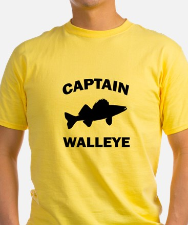 CAPTAIN WALLEYE CENTERED T