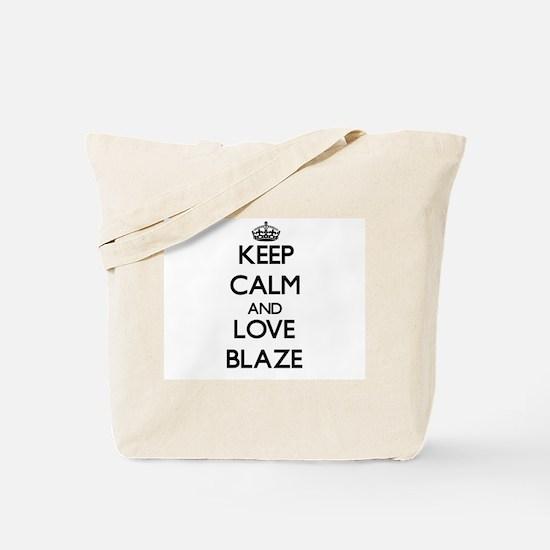 Keep Calm and Love Blaze Tote Bag