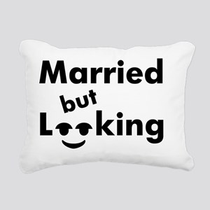 shirt-married-looking Rectangular Canvas Pillow