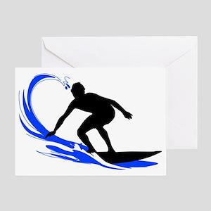 shirt-waves-surfer2 Greeting Card
