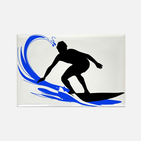 shirt-waves-surfer2 Rectangle Magnet