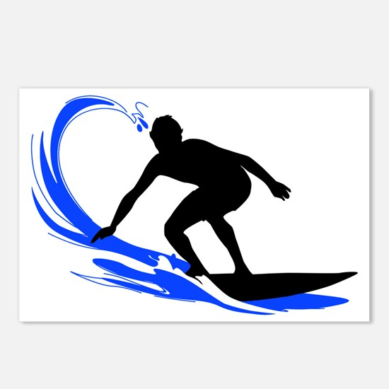 shirt-waves-surfer2 Postcards (Package of 8)