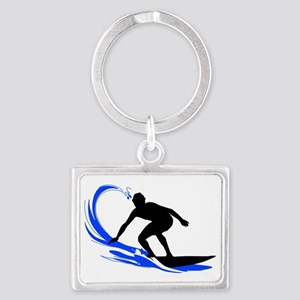 shirt-waves-surfer2 Landscape Keychain