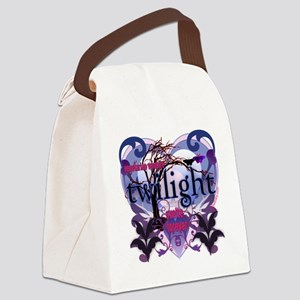 twilight vegetarian vampire copy Canvas Lunch Bag