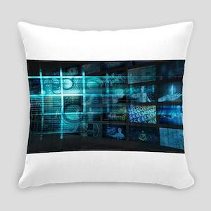 Futuristic Backgro Everyday Pillow