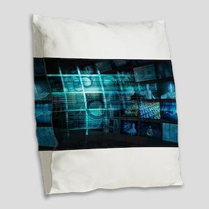 Futuristic Backgro Burlap Throw Pillow