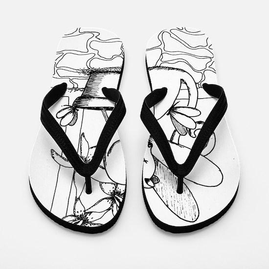 WingsNOrchids Flip Flops